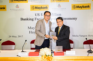 Hayman Capital Co., Ltd has signed banking facility for US$ 1 Million with Maybank Yangon Branch.